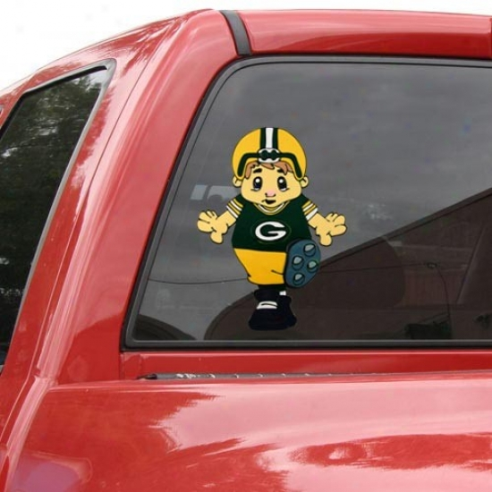 Green Bay Packers Team Mascot 12'' Window Cling