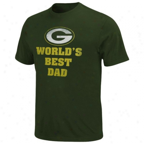 Green Bay Packers Tees : Green Bay Packers Unseasoned World's Best Dad Tees