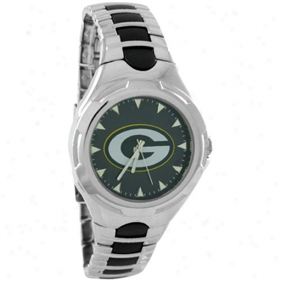 Green Bay Packers Watch : Green Bay Packers Stainless Steel Victory Watch