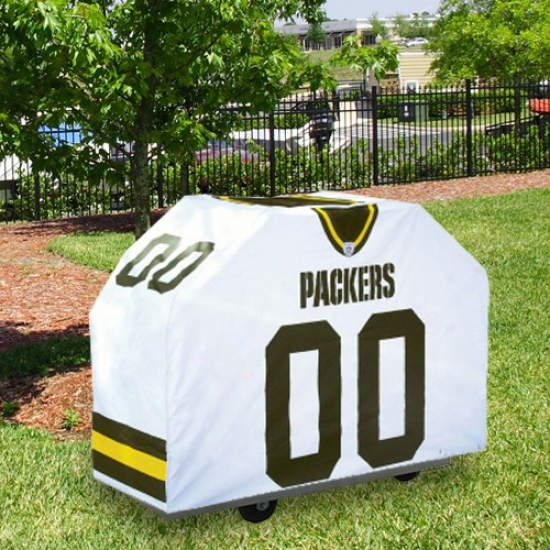 Green Bay Packers White Jersey Bbq Grill Cover