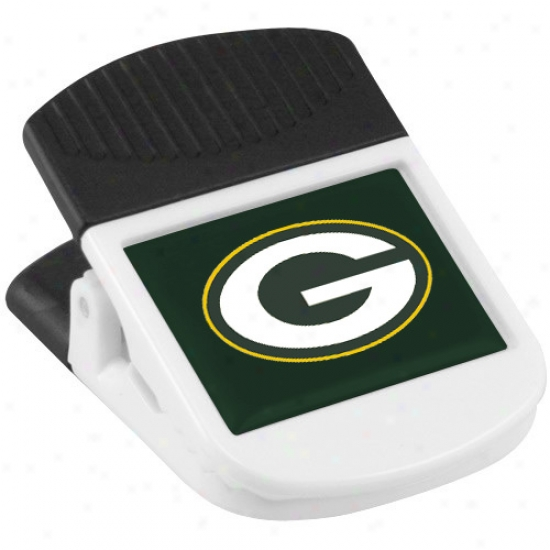 Green Bay Packers White Magnetic Chip Clip