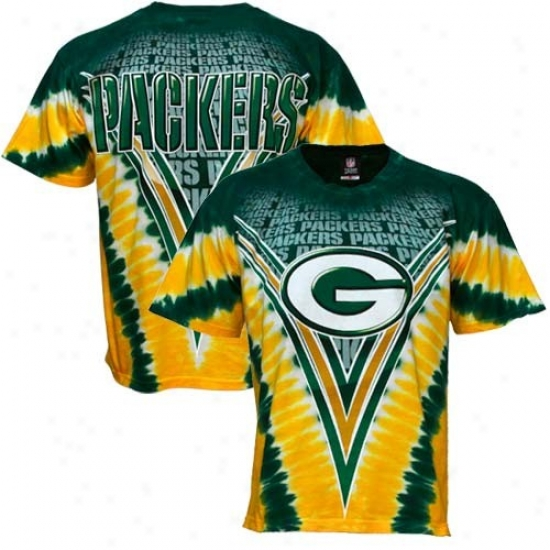 Green Bay Shirt : Green Bay Green V-dye Logo Shirt