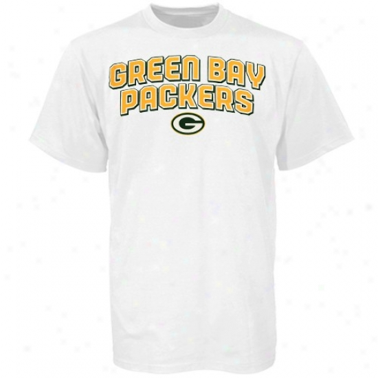 Green Bay Shirt : Reebok Green Desperation White Double Arched Shirt