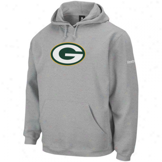 Green Bay Ooze Shirts : Reebok Green Bay Ash Playbook Sweat Shirts