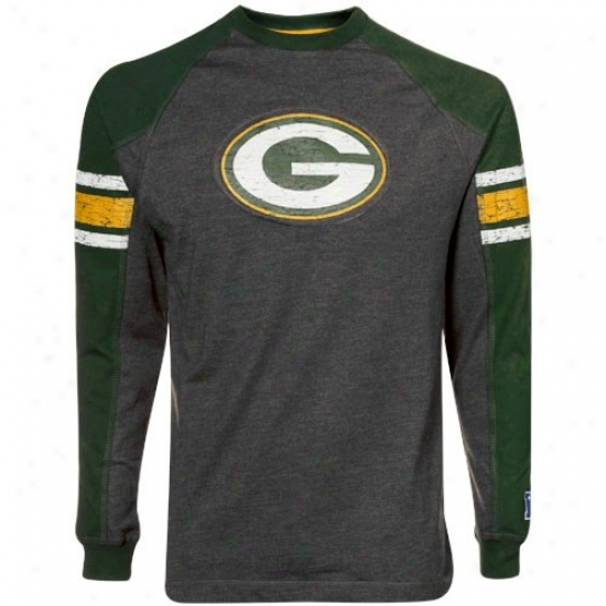 Green Bark Tshirt : Green Bay Charcoal Victory Pride Ii Premium Long Sleeve Raglan Tshirt