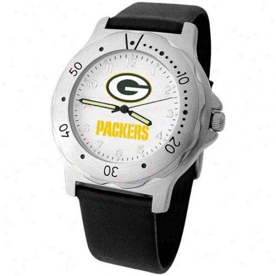 Green Bay Wait : Green Bay Men's Murky Leather Team Player Watch