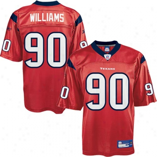Houston Texan Jersey : Reebok Nfl Equipment Houston Texan #90 Mario Williams Red Alternate Replica Football Jersey