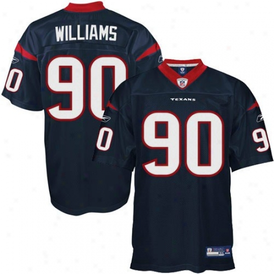 Houston Texan Jerseys : Reebok Mario Willizms Houston Texan Authentic Jerseys - Navy Blue