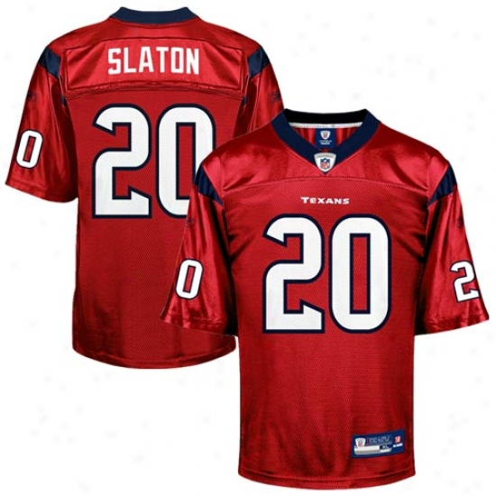 Houston Texan Jerseys : Reebok Steve Slaton Houston Texan Replica Jerseys - Red Alternate