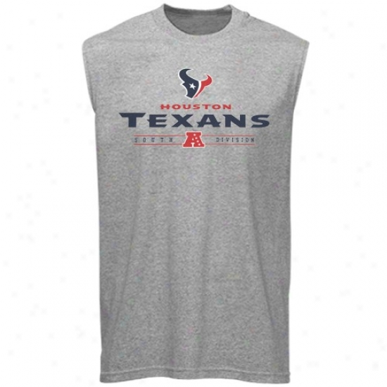 Houston Texan Shirt : Houston Texan Case-harden Gray Critical Victory Sleeveless Shkr