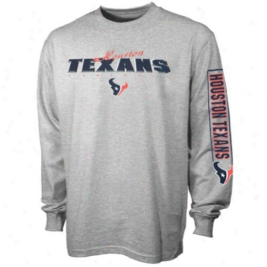 Houston Texan Shirt : Reebok Houston Texan Ash Pre-scholo Dimension Long Slee\/e Shirt