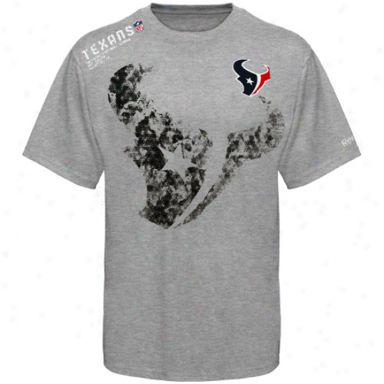 Houston Texan Shirt : Reebok Houston Texwn Youth Ash Sideline Stealth Shirt