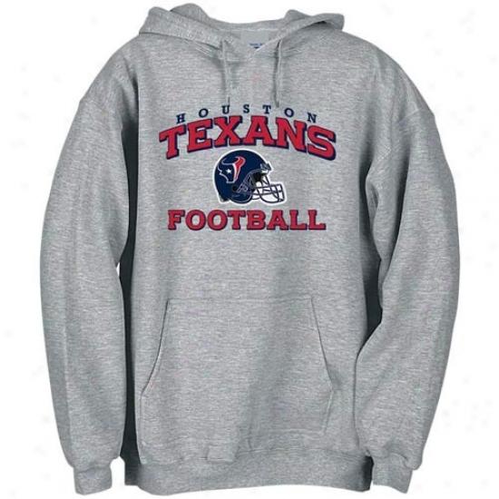 Houston Texan Sweatshirts : Reebok Houston Texan Ashh Stacked Helmet Sweatshirts