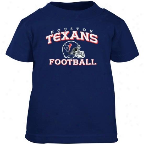 Houston Texan T Shirt : Reebok Houtson Texan Toddler Navy Blue Stacked Helmet T Shirt