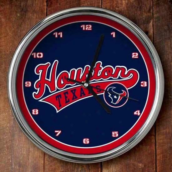 Houston Texans 12'' Chrlme Clock
