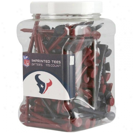 Houston Texans 175-pack Red-navy Blue Imprinted Golf Tees