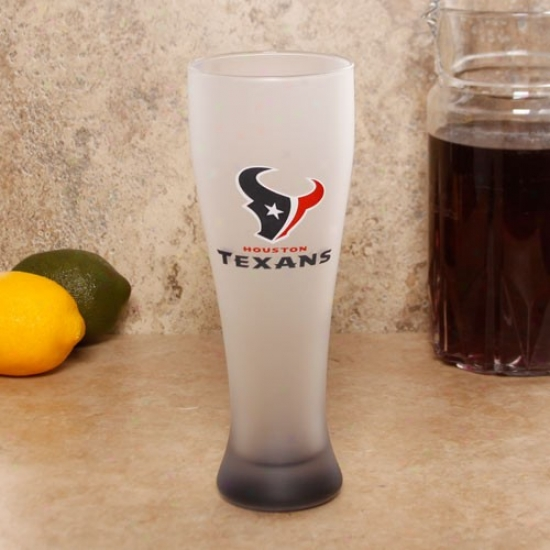 Houston Texxans 23oz. Frosted Pilsner Glass
