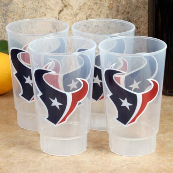 Houston Texans 4-pack 16oz. Plastic Cups