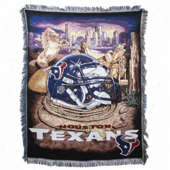 Houston Texans Acrylic Tspestry Home Field Advantage Throw Blanket