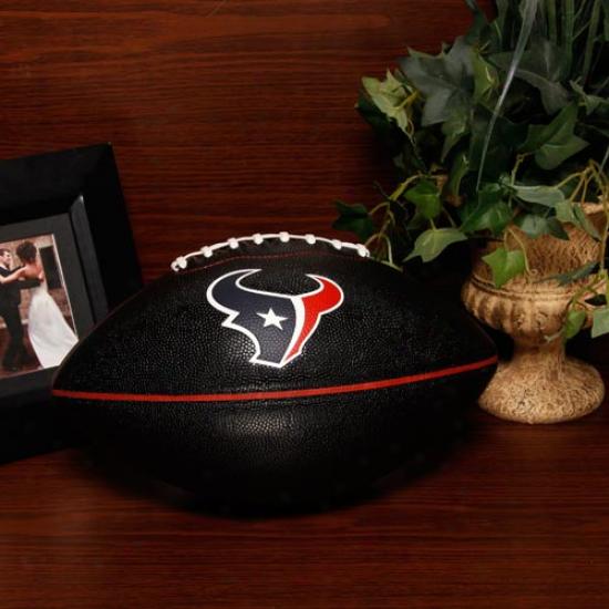 Houston Texans Black Pt-6 Full Size Composite Football