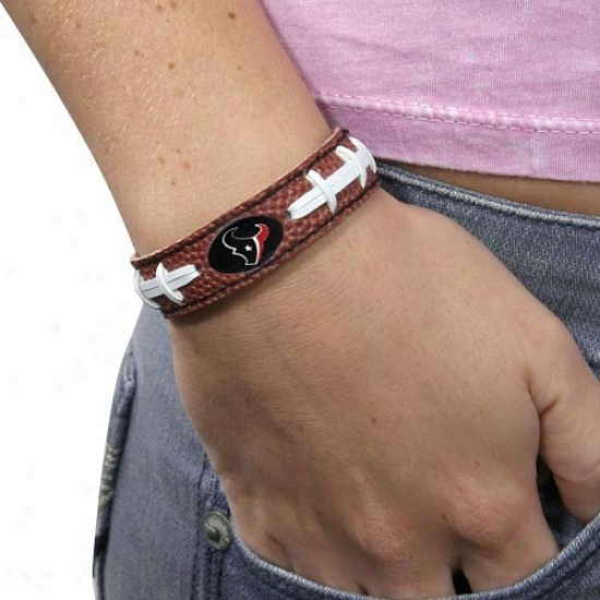 Houston Texans Brown Football Bracelet