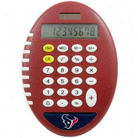 Houston Texans Brown Football Pro-grip Calculator