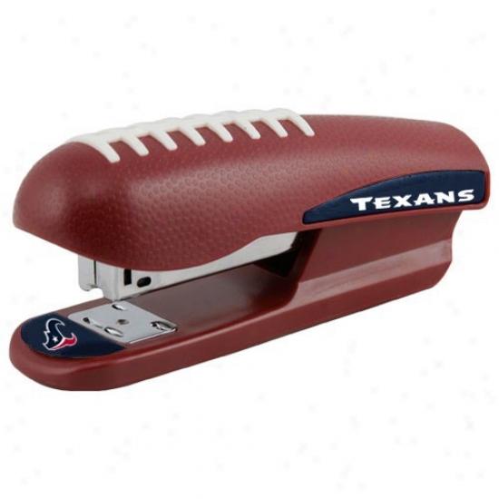 Houston Texzns Brown Pro-grip Football Stapler