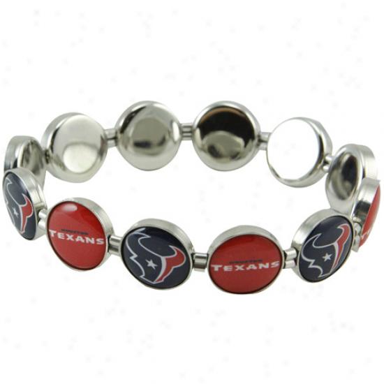 Houston Texans Enamdl Charm Beaded Bracelet