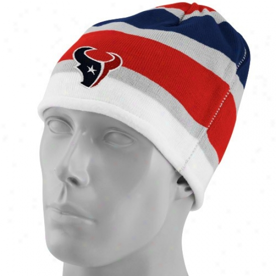 Houston Texans Gear: Reebok Houston Texans Multi Team Colors Striped Cyffless Beanie