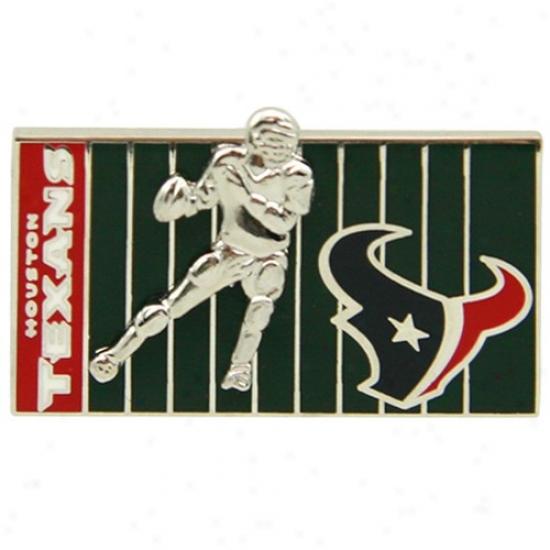Houston Texans Hats : Houston Texans 3d FootballlP layer On The Field Pin