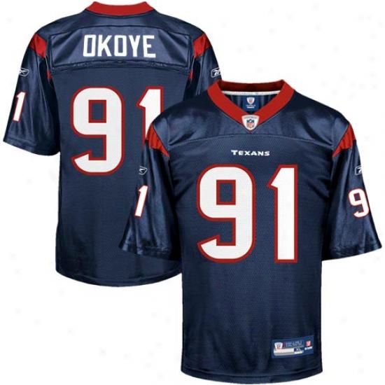 Houston Texans Jerseys : Reebok Amobi Okoye Houston Texans Replica Jerseys - Navy Blue