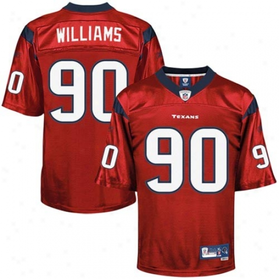 Houston Texans Jerseys : Reebok Mario Williams Houston Texans Premier Jerseys - Red Alternate
