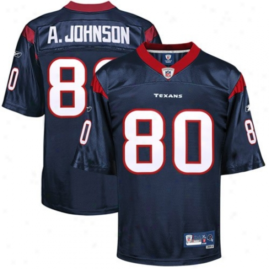 Houston Texans Jerseys : Reebok Nfl Equipment Houston Texans #80 Andre Johnson Navy Blue Premier Tackle Twill Jerseys