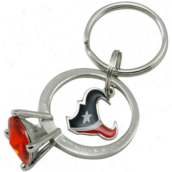 Houston Texans Jumbo Bling Ring Keychain