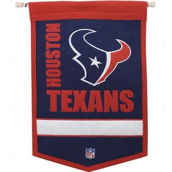 Houston Texans Medium Traditions Wool Banner