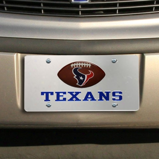Houston Texans Mirrkred License Plate