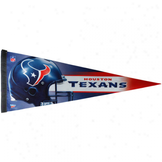 Houston Texans Ships Blue 12'' X 30'' Premium Pennant