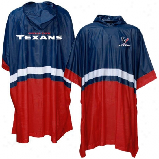 Houston Texans Navy Blue Team Poncho