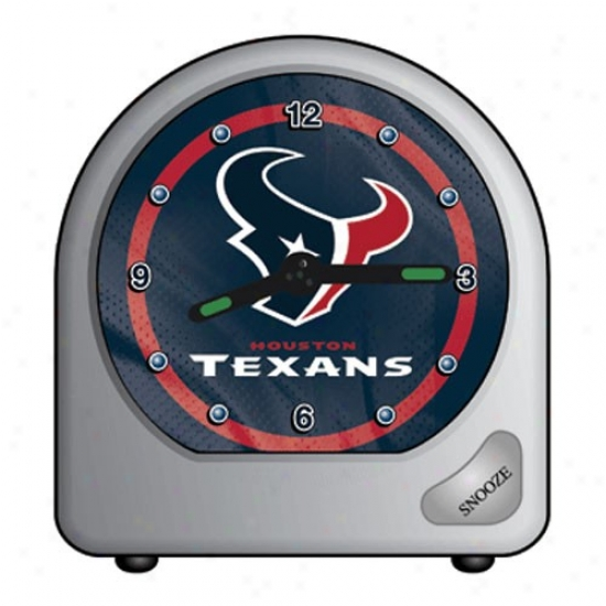 Houston Texans Plastic Alatm Clock