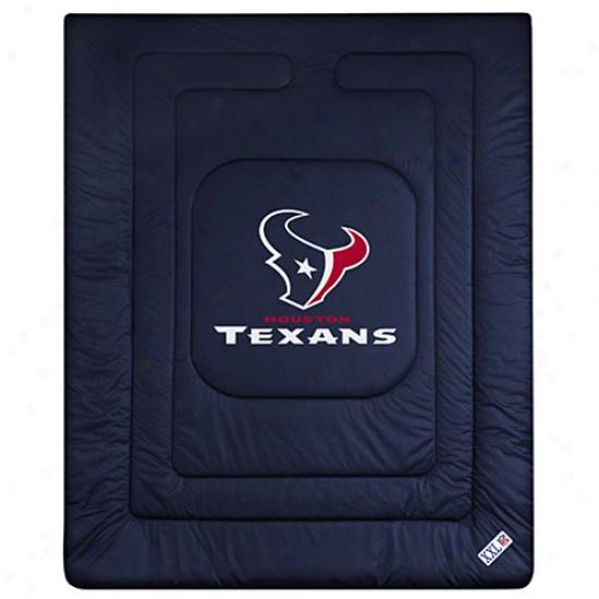 Houston TexansQ ueen/fuli Size Locker Room Comforter