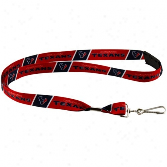 Houston Texans Red Event Lanyard