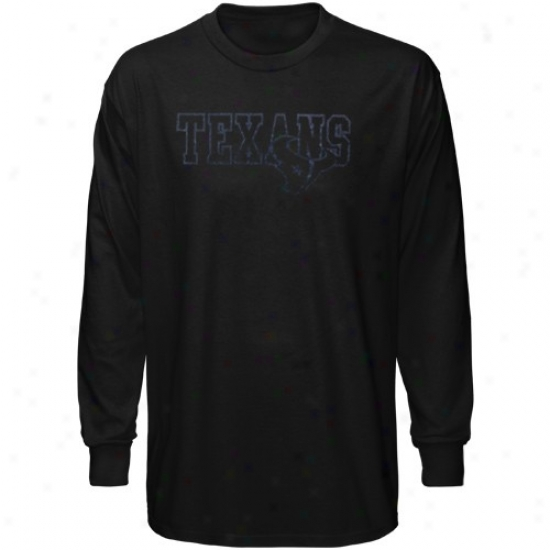 Houston Texans Shirt : Reebok Houston Texans Black Fashion Long Sleeve Shirt
