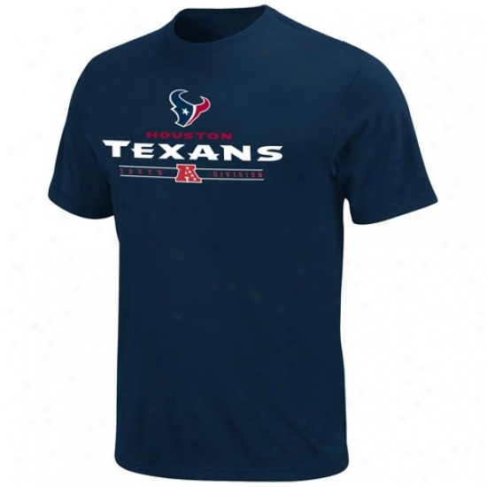 Houston Texans Shirts : Houston Texans Navy Blue Critica Victory Shirts