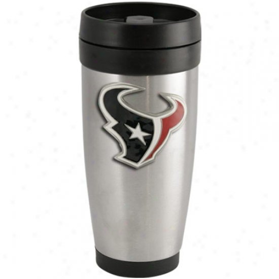 Houston Texans Stainlesss Case-harden Team Logo Thermo Travel Tumbler