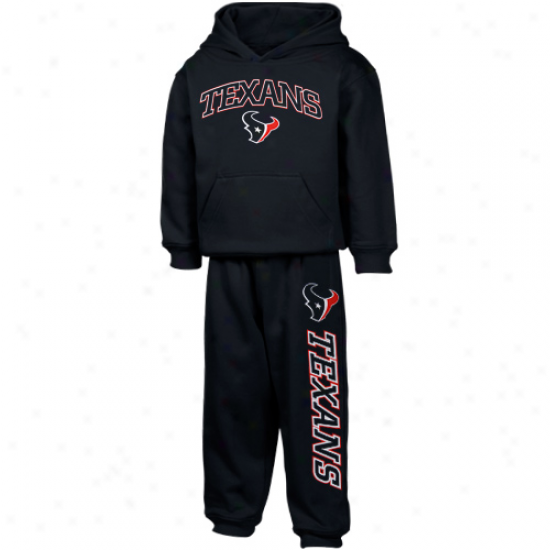 Houston Texans Sweatshirt : Reebok Houston Texans Toddler Navy Blue Pullover Sweatshirt And Sweatpants Set