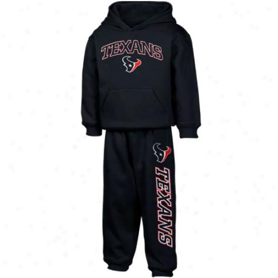 Houston Texans Sweatshirt : Reebok Houston Texans Toddler Navy Blue Pullover Sweatshirt And Sweatpants Set