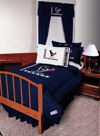 Houston Texans Twin Size Bed Skirt