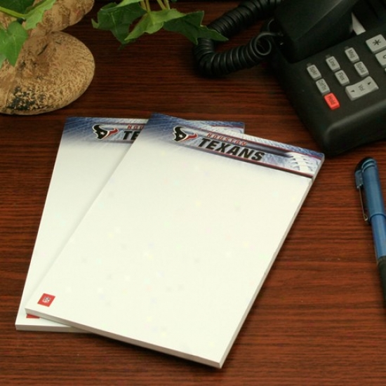 Houstob Texans Two-pack 5'' X 8'' Team Logo Notepads