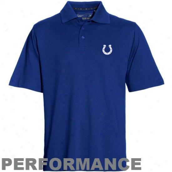 Indianapolis Colt Golf Shirt : Cutter & Buck Indianapolis Colt Royal Blue Drytech Championship Performance Golf Shirt