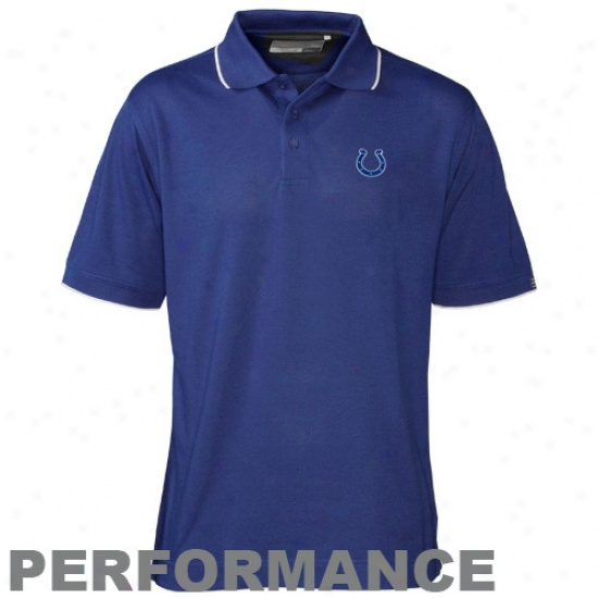Indianapolis Colt Golf Shirts : Cutter & Male  Indianapolis Colt Royal Blue Drytec Cutter Tipped Perfoormance Golf Shirts
